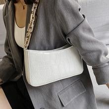 Fashion Crocodile Pattern Baguette bags MINI PU Leather Shoulder Bags