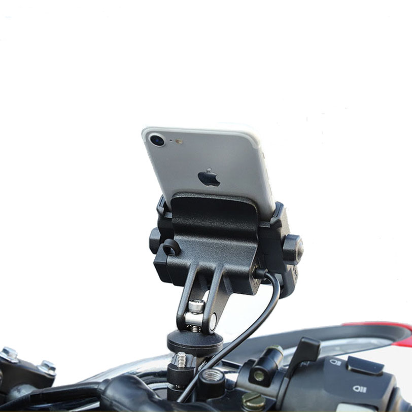 Motorcycle <font><b>Phone</b></font> <font><b>Holder</b></font> Bicycle Handlebar Cellphone Support <font><b>Bike</b></font> Chargable Mount 360 Rotation Stand for <font><b>IPhone</b></font> X Xr <font><b>8</b></font> <font><b>Plus</b></font> image