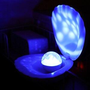 Image 1 - Coquimbo Shell LED Projektion Lampe Gebaut In Akku Schlafzimmer Home Dekoration Touch Schalter Kinder der Nacht Licht