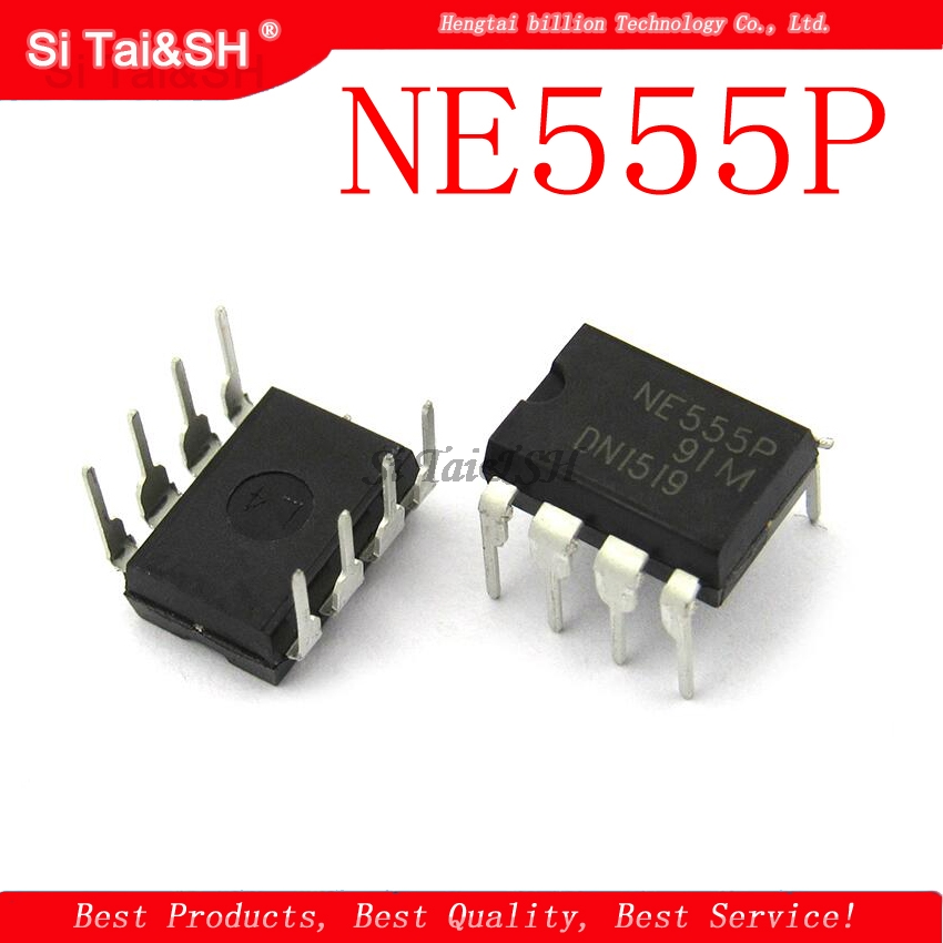 10pcs/lot New NE555 NE555P NE555N PRECISION TIMERS IC DIP-8