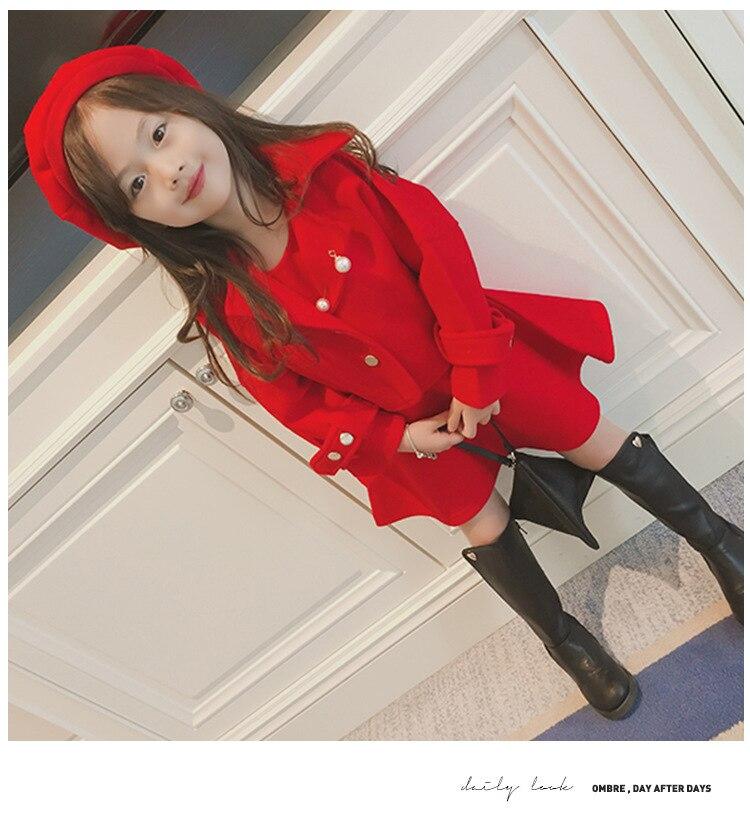 Children Girls Clothing Girls Winter Clothes 2019 Winter Baby Girls Warm Sleeveless Vest Dress +Woolen Jacket Coat 3PCS Sets (11)