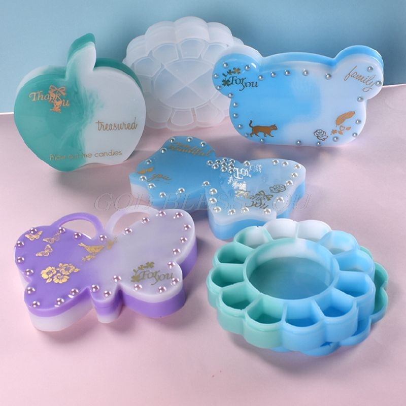 UV Crystal Resin Decorative Craft DIY Bear Butterfly Storage Box Epoxy Mold
