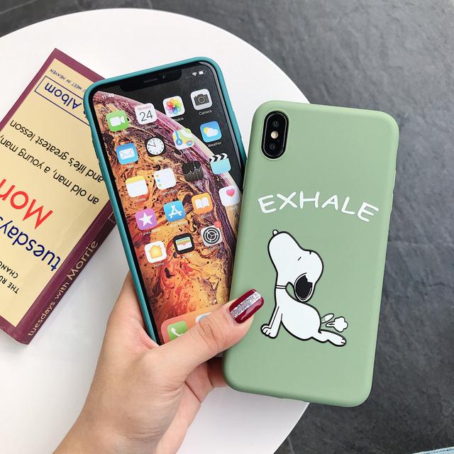 Cute Peanut comic puppy Yoga Phone Case for iphone