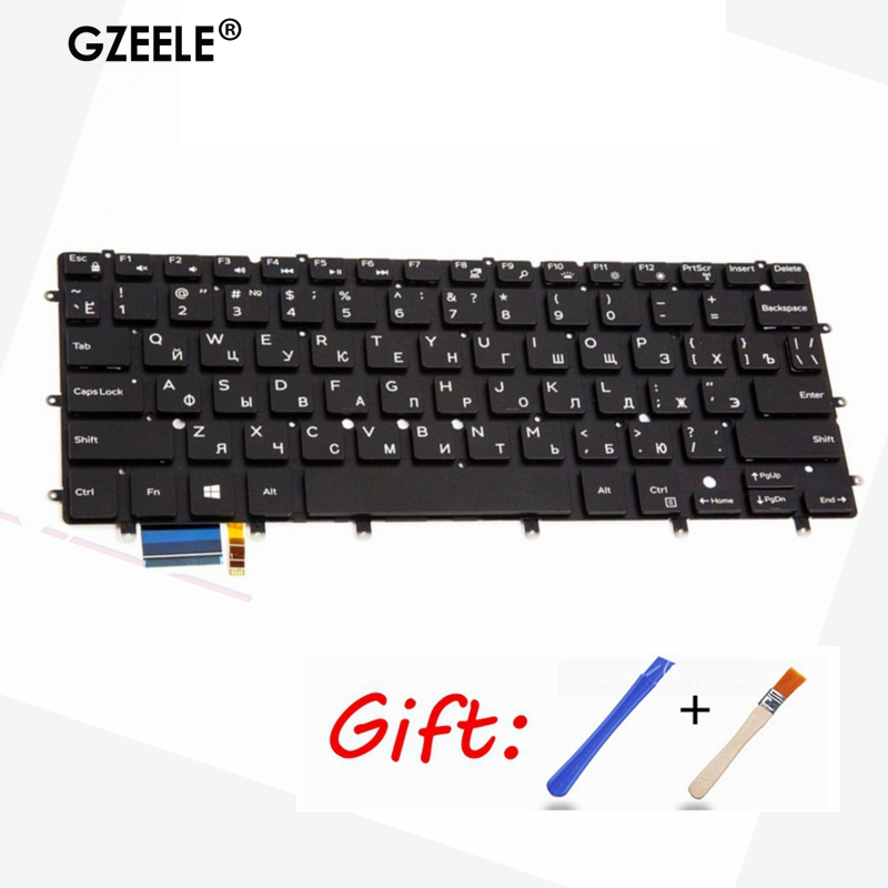 Russian NEW Laptop Keyboard For Dell XPS 13 9343 13 9350 9360 15BR N7547 N7548 7547 7548 17-3000 With Backlit 0DKDXH NSK LS0BW