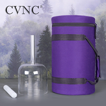 CVNC 440Hz or 432Hz 7 Chakra Tuned CDEFGAB any one note  Hollow Handle Clear Crystal Singing Bowl