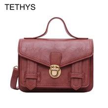 TETHYS Vintage Leather Shoulder Bag Women High Quality Messenger Bag Ladies Designer Bags Women Fashion Bag Monederos Para Mujer