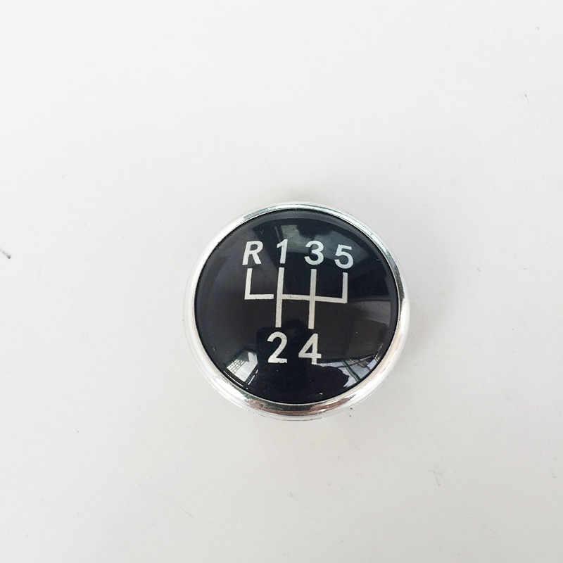 5/6 Geschwindigkeit Schaltknauf Kappe Emblem Abzeichen Abdeckung für VW Volkswagen Golf Jetta MK3 MK4 GTI MK4 Bora LUPO POLO SEAT IBIZA CADDY
