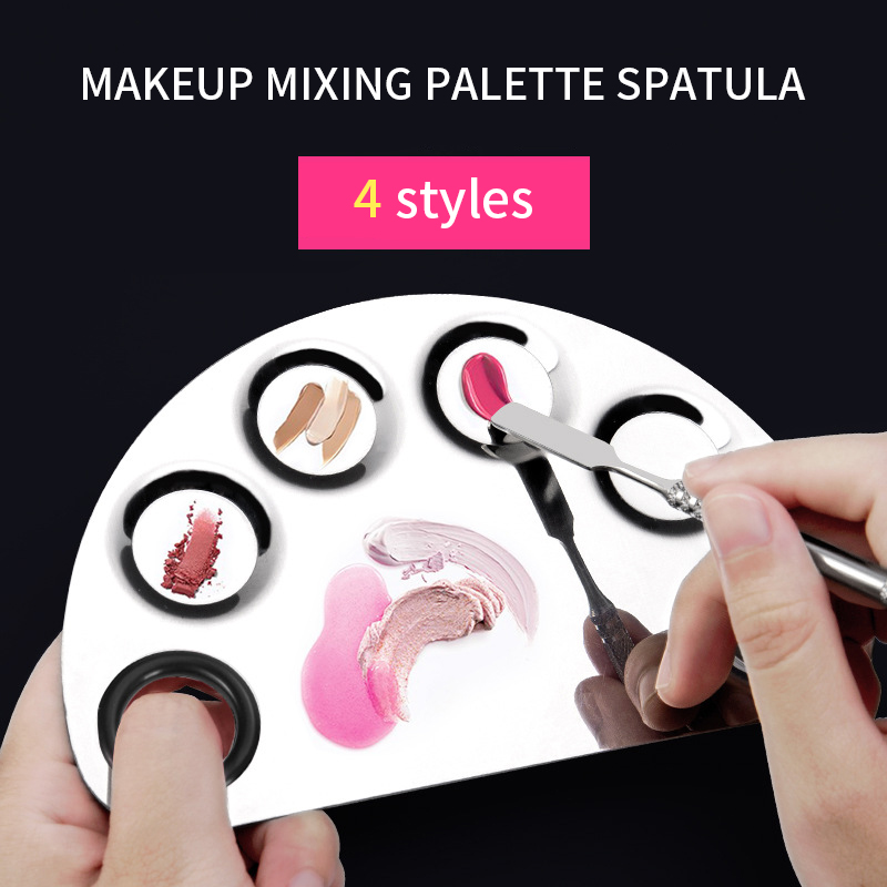 YALIAO Makeup Mixing Palette With Spatula Cosmetic Nail Tool Cosmetic Nail Tool Professional Salon Manicure Foundation Make Up