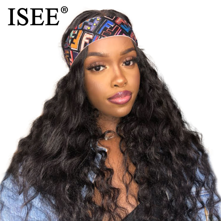 ISEE Loose Deep Wave Lace Front Wigs Peruvian Lace Wigs For Women 150% Density Human Hair Wigs Deep Lace Front Human Hair Wigs