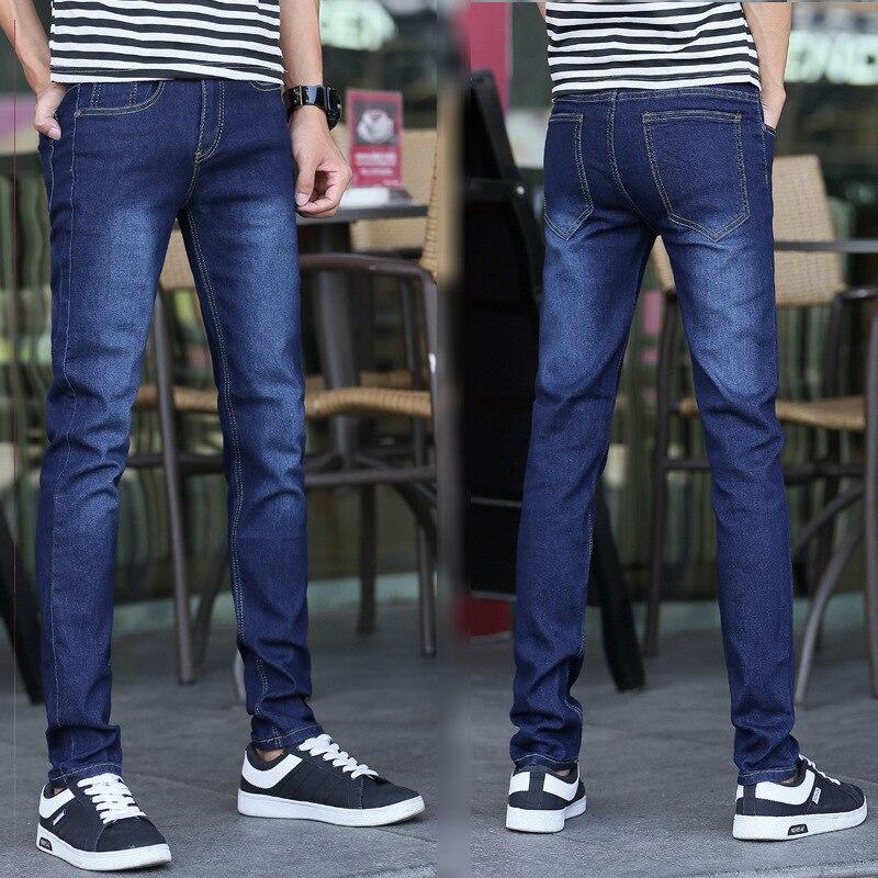MEN'S Jeans Pants Slim Fit Skinny Pants Men'S Wear Teenager Korean-style Elasticity Long Pants