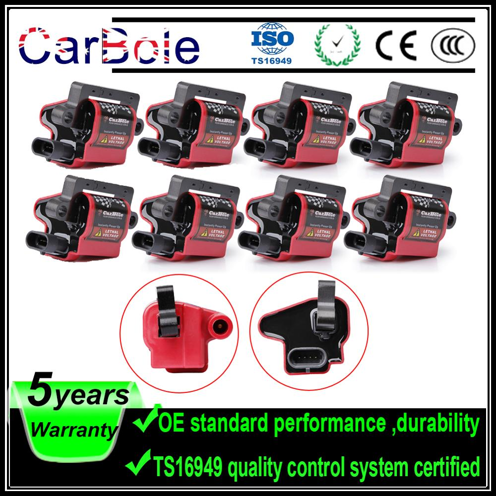 Carbole 8 Square Ignition Coils Pack UF271 For Chevrolet Express 1500 2500 3500 For GMC For Workhorse 1999-2007 UF-271
