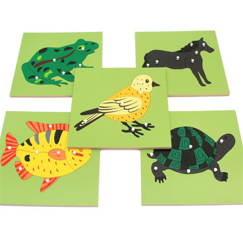 Montessori Puzzle Wooden Toys Animal Plant Panel Puzzle Montessori Teaching Aids Early Educational Puzzle Large Pieces Toy Gifts wooden mathematics teaching aids calculation frame children early education puzzle educational toys montessori in math toy