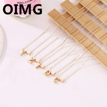 SUMENG Fashion Tiny Heart Dainty Initial Necklace Gold Silver Color Letter Name Choker Necklace For Women Pendant Jewelry Gift