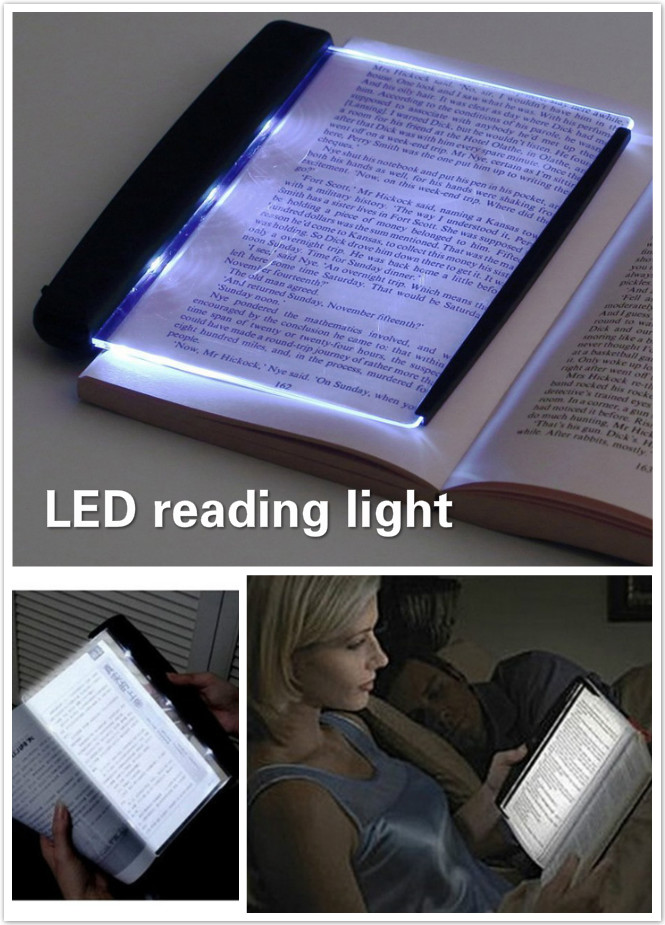 Eye Care Led Book Light Clip-On Night Lights Reading Lamp Flat Plate Portable Travel Panel Led Desk Lamp For Home Indoor Bedroom