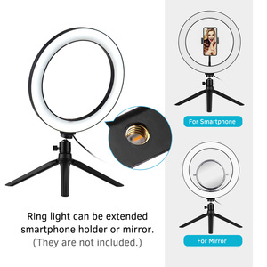 Image 3 - Photography 10 Inch LED Ring Light Tripod Stand Remote Control 3200K 5500K Dimmable Ringlight for tik tok Video Live Stream