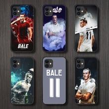 Gareth bale futebol caso do telefone capa casco para iphone 5 5S se 2 6s 7 8 plus x xs xr 11 pro max preto funda silicone