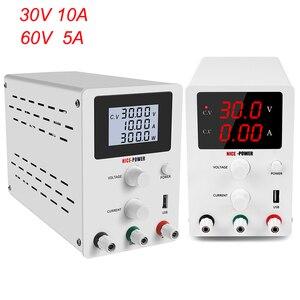 Image 1 - DC Labor Netzteil Einstellbar 30V 10A 60V 5A Bank Quelle labor Schalt netzteile Spannung Strom Regler
