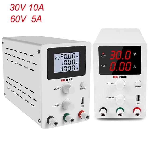 DC Labor Netzteil Einstellbar 30V 10A 60V 5A Bank Quelle labor Schalt netzteile Spannung Strom Regler