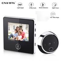 Onvian-timbre con pantalla LCD TFT HD de 3,0 pulgadas, puerta con visión nocturna, foto de cámara, grabación, modo de reposo Larga, Digital inteligente, mirilla