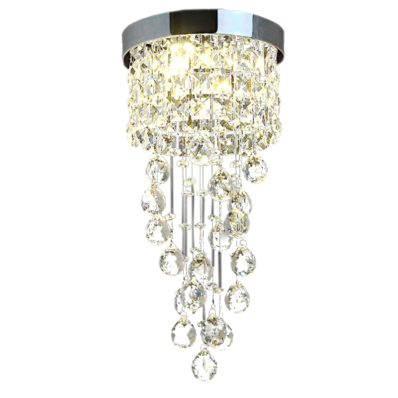 Modern Led Crystal Aisle Lights Living Room Hallway Entrance Balcony Hotel Hanging Spiral Staircase Small Ceiling Lamp LED Strips    - title=