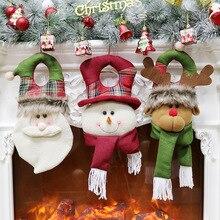 2020 Christmas decoration door hanging Christmas window decoration old man snowman Christmas door kn