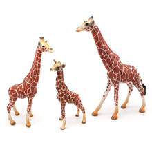 Wild African Simulation Giraffe Animals Model  Figures toys for children Boys Collection 8pcs set simulation solid dinosaur toys pvc collecta dinosaurs figures oviraptor pteranodon animals model toys for boys gifts