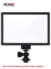 Viltrox l116t led 비디오 라이트 울트라 씬 lcd 바이 컬러 및 디 밍이 가능한 dslr 스튜디오 led 라이트 램프 패널 카메라 dv 캠코더