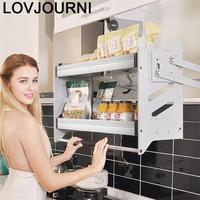 Mutfak Malzemeleri Rangement Cuisine Stainless Steel Hanging Organizer Rack Cocina Kitchen Cabinet Cestas Para Organizar Basket