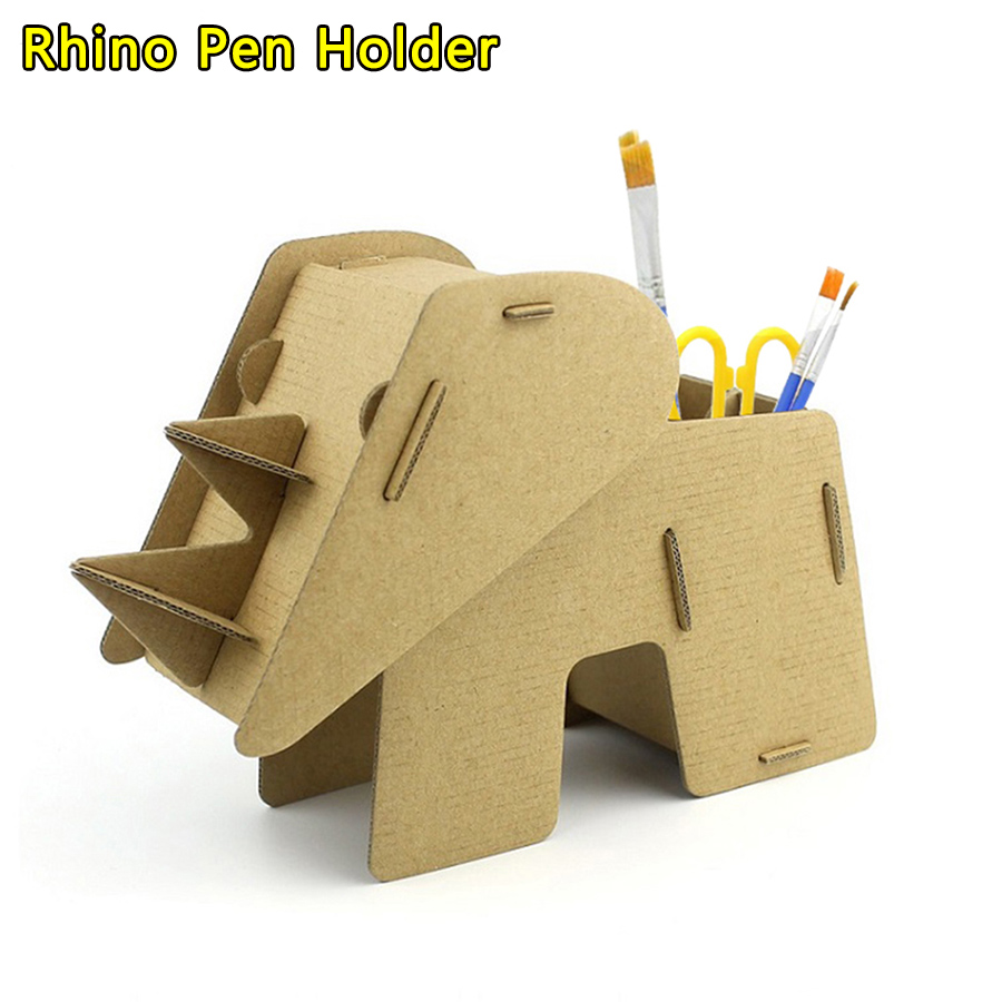 WEY/&FLY Pen Holders//Cell Phone Stand Bus 3D Jigsaw Puzzle Creative Cute Paper Desktop Storage Pencil Box for Kids and Adults