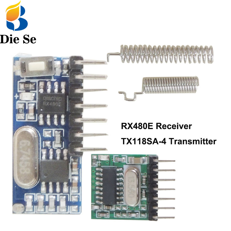 433Mhz Superheterodyne RF Transmitter And Receiver Module Switch For Arduino Uno Wireless Module DIY Kits 433Mhz Remote Controls