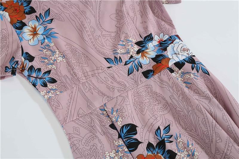 Summer Floral Print Elegant A-line Party Dress Women Slim White Short Sleeve Swing Pin up Vintage Dresses Plus Size Robe Femme 95