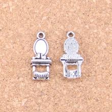 Colgantes antiguos de 16 Uds. Mesa de baño 20x9mm, joyería de plata tibetana Vintage, collar de pulsera DIY