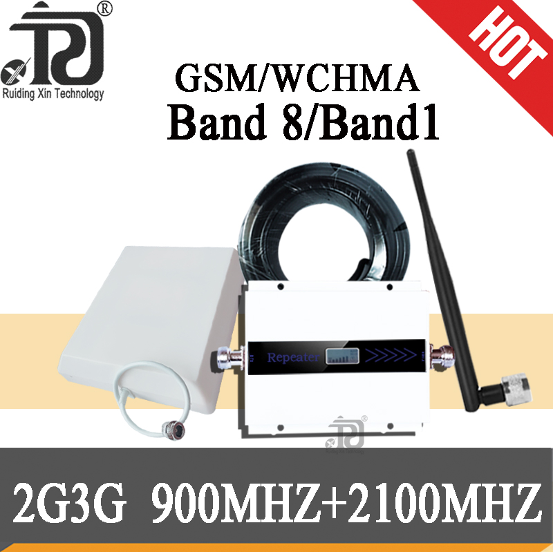 3g Signal Booster GSM 900 3G 2100 Mhz Dual Band Repeater GSM 3G UMTS Cell Phone Amplifier 3G WCDMA 2100 Cellular Mobile Booster