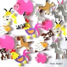 Новые 3D наклейки из пенопласта DIY Мультяшные животные головоломка для детей детские образовательные награды мульти-узоры стильные игрушки для детей подарок