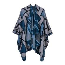 Ms triangular geometry design fashionable joker shawl multi-purpose changed traveling cloak EBAY selling