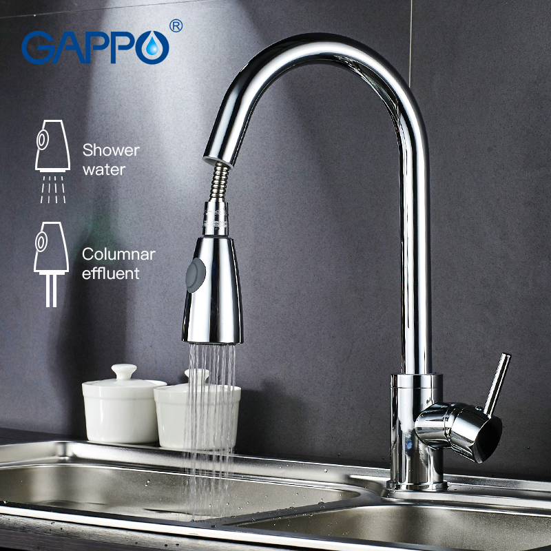 Gappo Kitchen Faucets Rotatable Kitchen Pull Out Flexible Kitchen Sink Faucets  Water Mixer Water Sink Mixer Tap Armatur