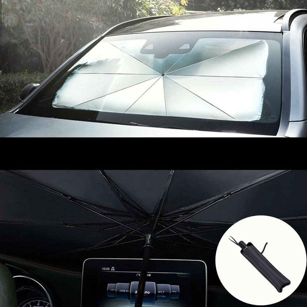 Car Sunshade Interior Front Window Sun Shade Cover UV Protector Sun Blind Umbrella SUV Sedan Windshield Protection Accessories