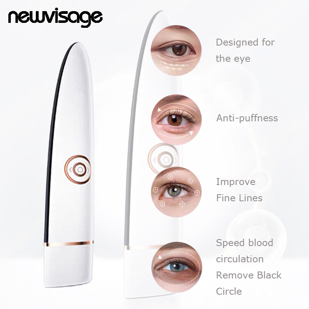 3 in 1 RF EMS Eye Care Beauty Device Vibration Massage Improve Fine lines Remove Eye Bag Wrinkle Black Circle Anti Puffness Tool