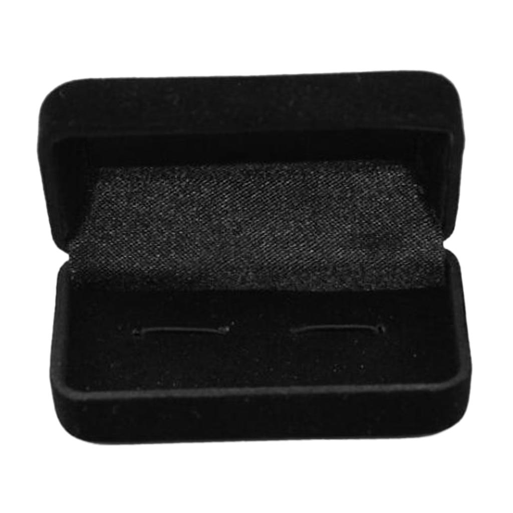 Luxury Cufflink Cuff Links Storage Tie Clip Box Jewelry Display Case Holder For Men Gifts