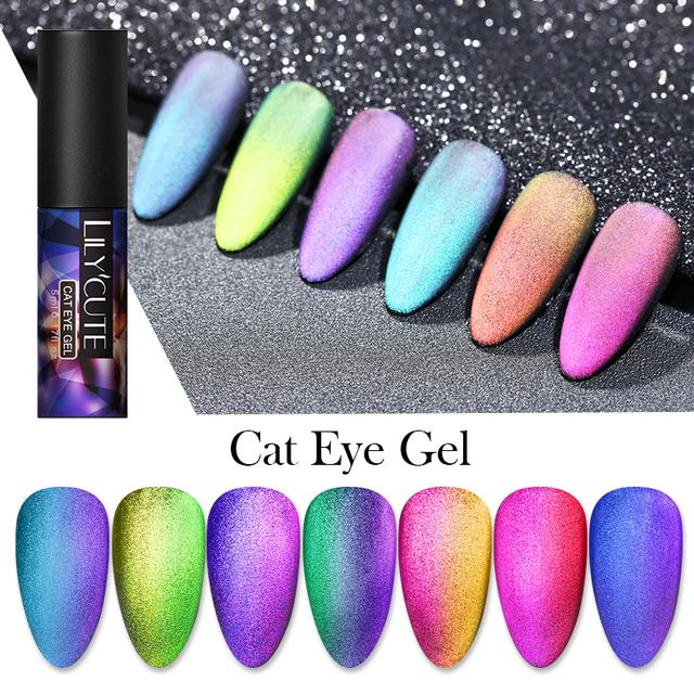 LILYCUTE 9D Matte Gradient Cat Eye Magnetic Nail Gel
