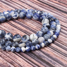 Natural Stone New Blue 15.5 PicBlue Peacockk Size 4/6/8/10/12mm fit Diy Charms Beads Jewelry Making Accessories