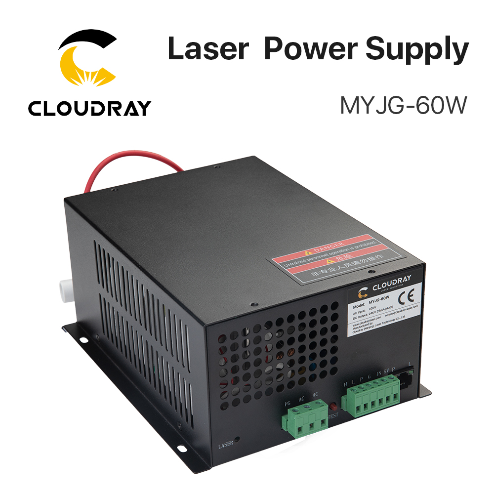 Alimentatore laser CO2 Cloudray 60W per macchina da taglio per incisione laser CO2 categoria MYJG-60W