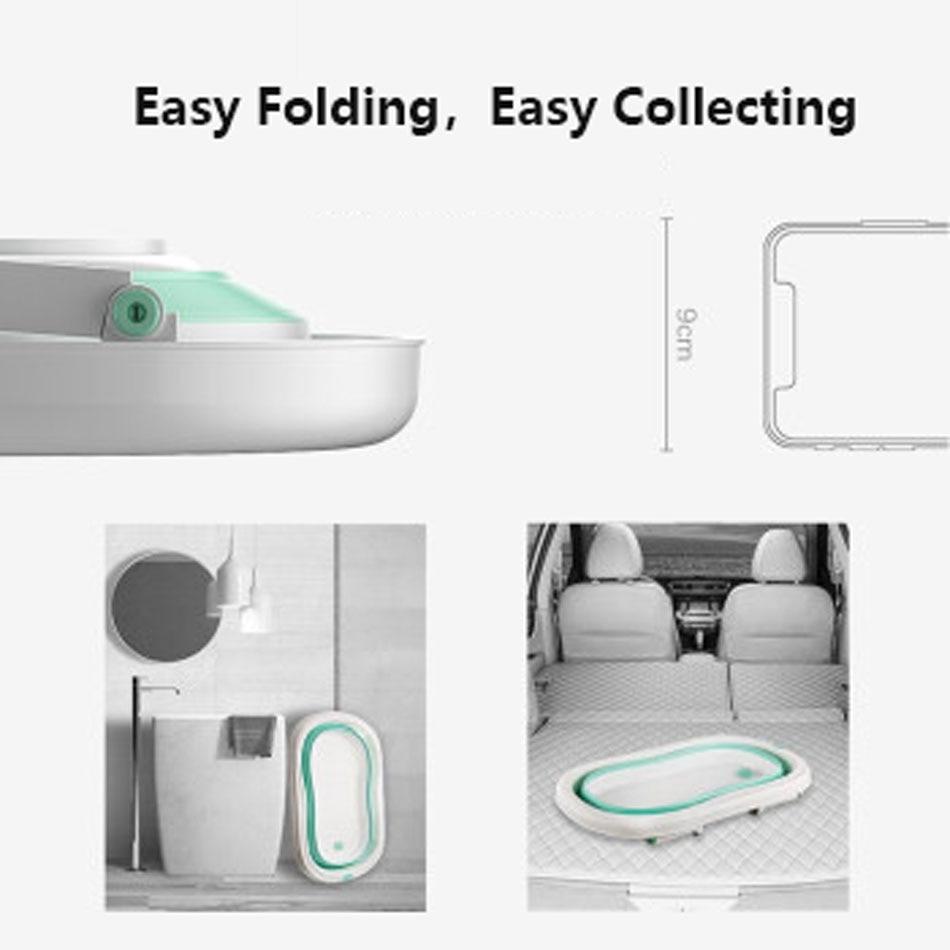 Easy Folding Baby Bath Tub With Non slip Cushion For Safe New Born Baby Bath Tub 26