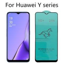 21h vidro temperado para huawei y7 y6 y5 prime 2019 y5p y8p vidro de proteção huawei p smart plus 2019 2020 protetor de tela vidro