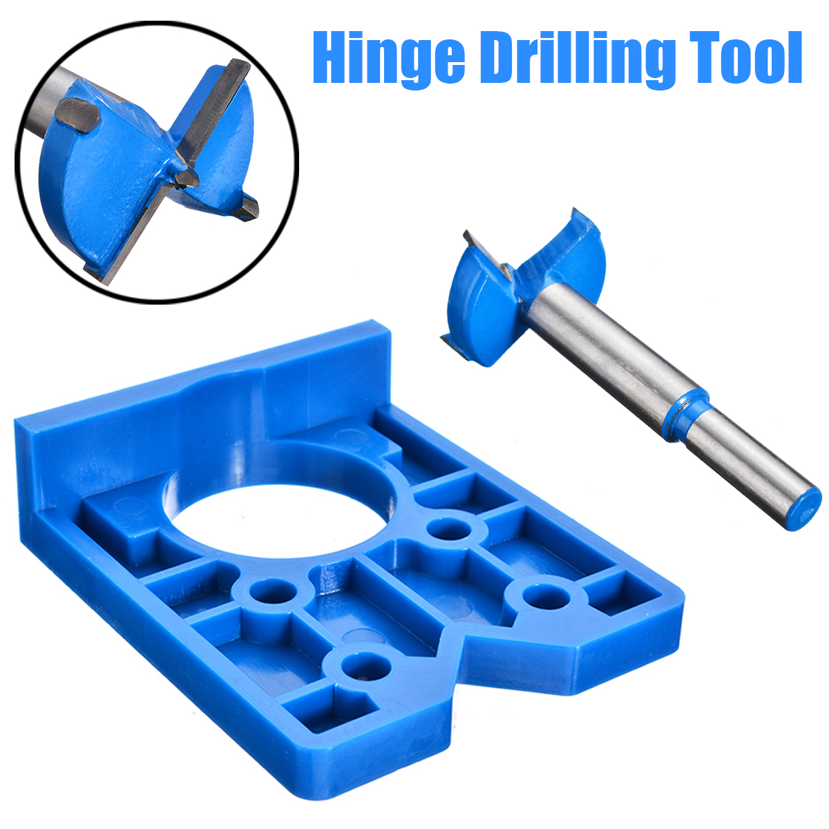 Woodworking Jig 35mm ABS Concealed Hinge Hole Jig For Kitchen Cabinet Doors With Drill Bit Tool Hinge Hole Jig For Carpentry