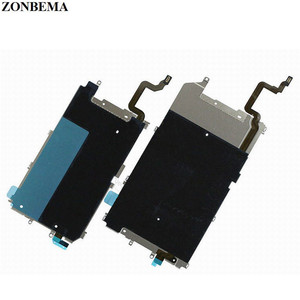 ZONBEMA New LCD Metal Backplate Shield with Home Button Extend Flex Cable for iPhone 6 6 Plus