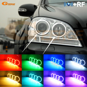 For Mercedes Benz M Class W164 ML 2005 2006 2007 pre facelift RF remote Bluetooth APP Multi-Color RGB led angel eyes kit