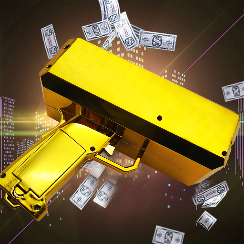 Spray Gun Toy Spit Machine Ins Explosion Section Banknotes Money Outdoor Party Regulation Atmosphere Toy Wedding Gift 2022