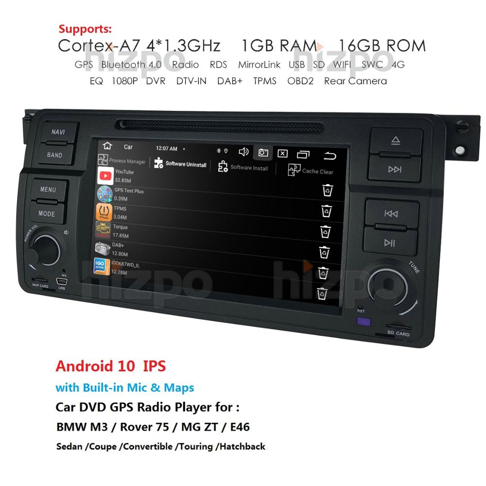 Factory Price Android 10 1 Din 1G 16G Car DVD Player For BMW E46 M3 With GPS Bluetooth Radio RDS USB Mirror-Link Canbus