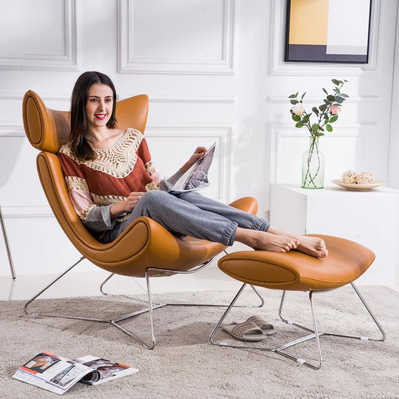 Nordic single sofa chair modern minimalist designer light luxury leisure lazy chair tiger chair snail chair